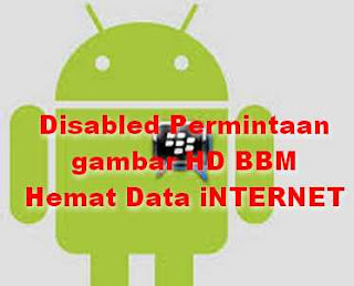 Disable Permintaan Gambar HD BBM Hemat Kuota Internet