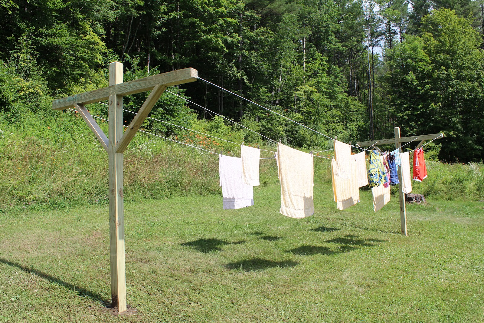 Art And Home How To Make An Outside Clothes Line