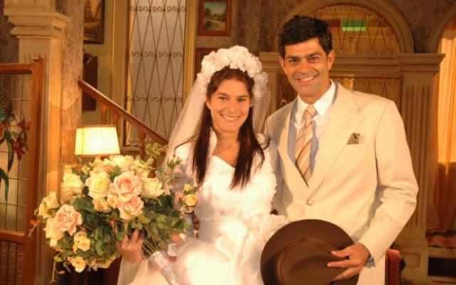 Serena e Rafael noivos,