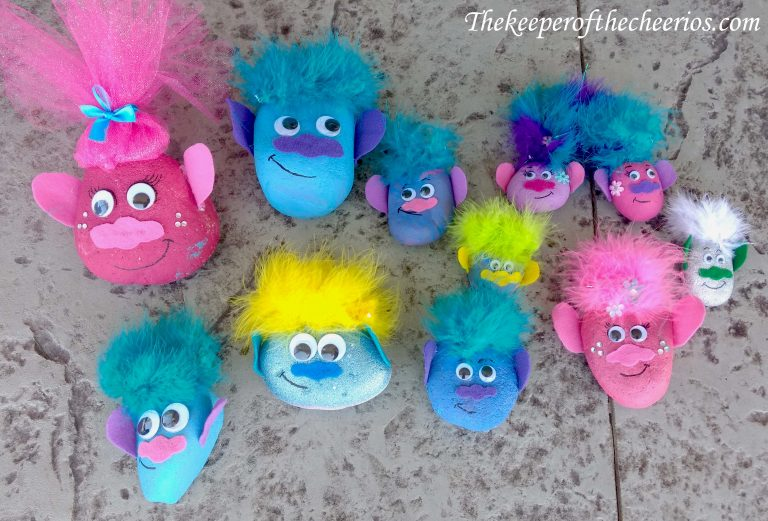How to make Trolls painted rocks