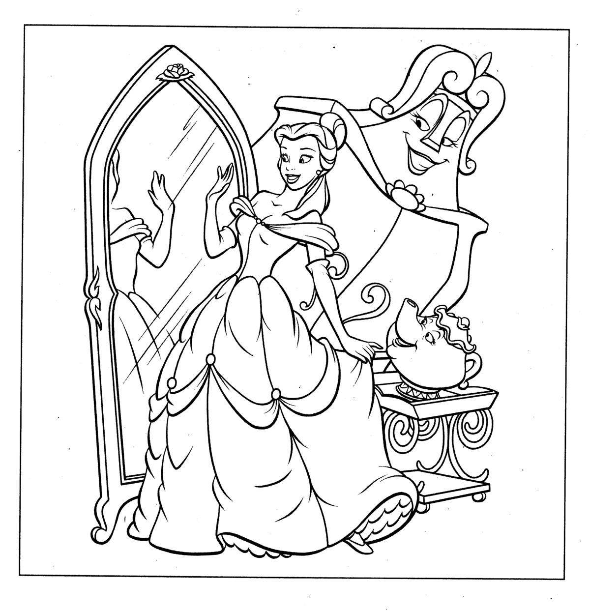 Disney Princess Coloring Pages Ideas