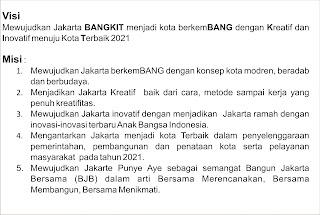 Jihad dengan Jempol Visi Misi Jakarta Bangkit Jakarte Punye Aye