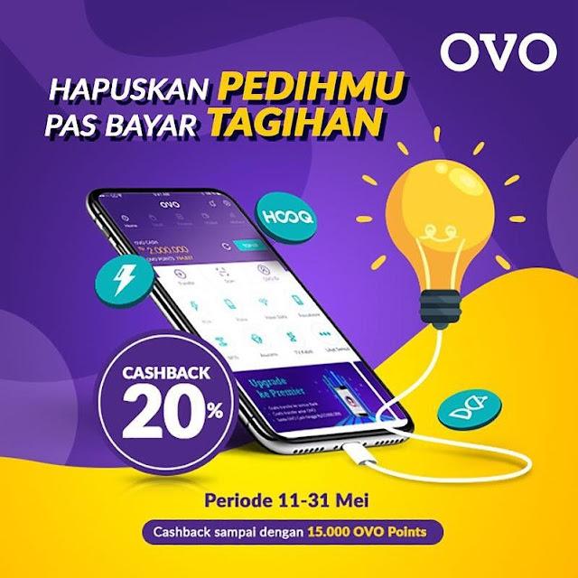 #OVO - #Promo Cashback 20% Bayar Tagihan Bulanan (s.d 31 Mei 2019)