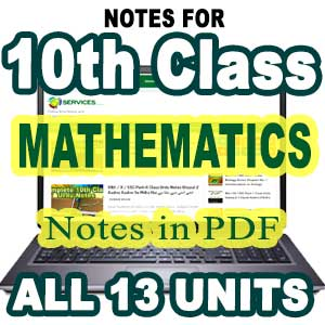 10th Class Physics Notes Pdf