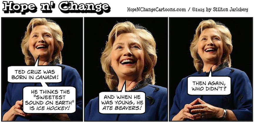 obama, obama jokes, political, humor, cartoon, conservative, hope n' change, hope and change, stilton jarlsberg, hillary, clinton, ted cruz, citizenship, birther