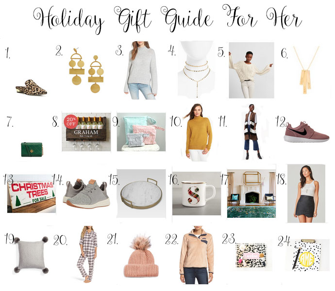 2017 gift guide for her, holiday gift guide for her 2017, girl(ish), the girlish blog, south carolina blogger