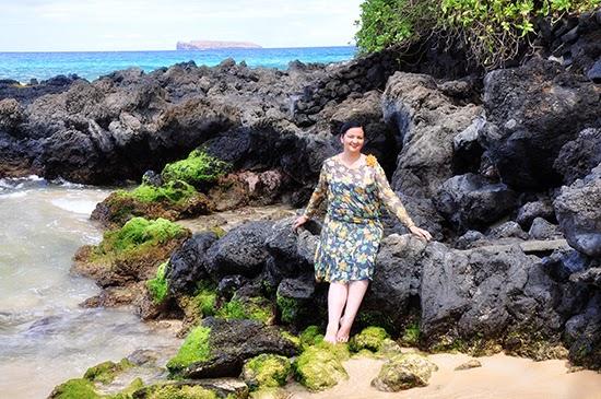 Maui beach 1920s dress Makena