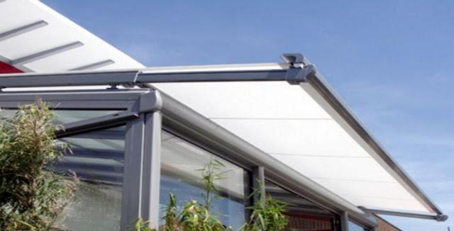 markiza dachowa teleskopowa, markiza przeciwsłoneczna, osłona ogrodu zimowego,