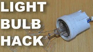 Як викрутити розбиту лампочку