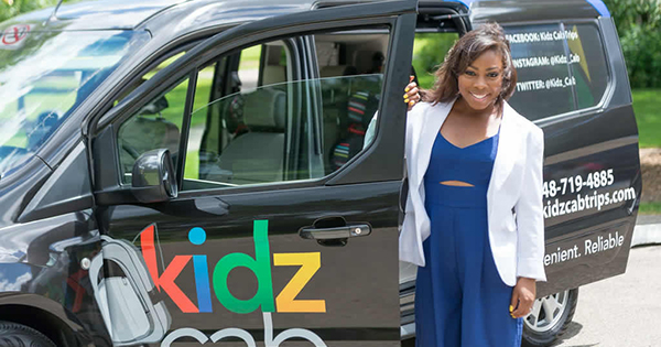 Aireal Taylor, founder of Kidz Cab in Detroit
