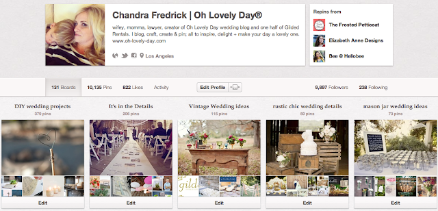 10 Websites to Help You Plan Your Wedding from Oh Lovely Day: Pinterest