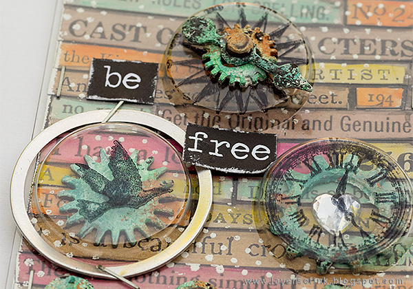 Layers of ink - Recycle Words ATC Tutorial by Anna-Karin, Artist Trading Card