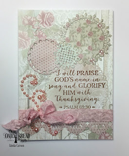 Our Daily Bread Designs Stamp Set: God Verses 2, Custom Dies: Fancy Circles, Beautiful Borders, Paper Collection: Shabby Rose
