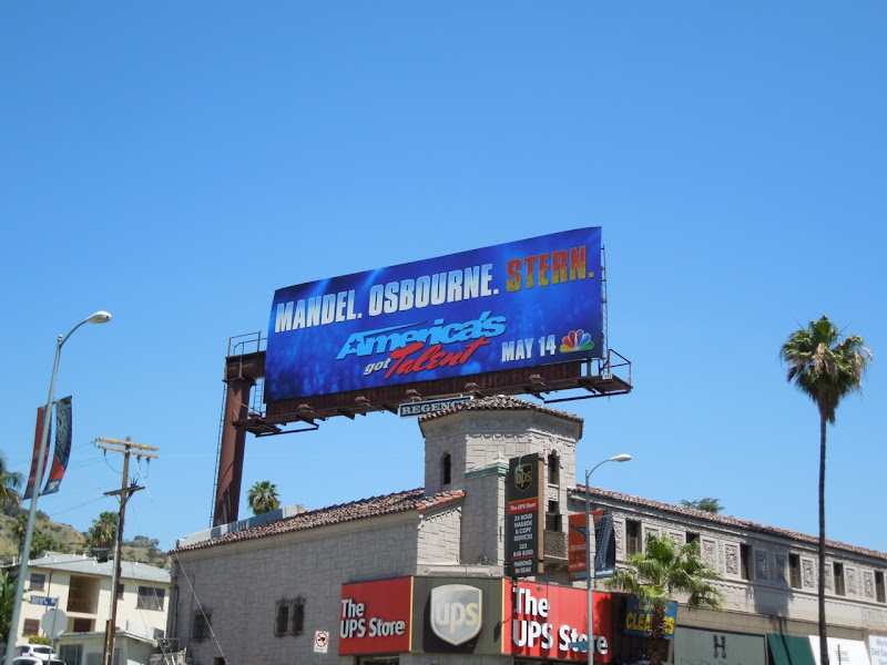 America's Got Talent season 7 Stern billboard