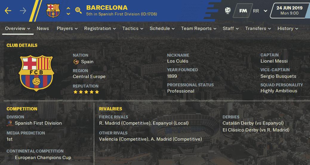 FM20 Team Guide & Tactic - FC Barcelona