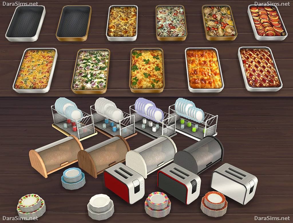 sims 4 cc's - the best: kitchen clutter and food decor by dara, Badezimmer ideen