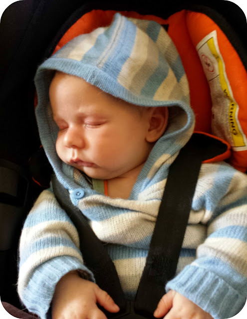 newborn in car seat, sleeping baby in carseat