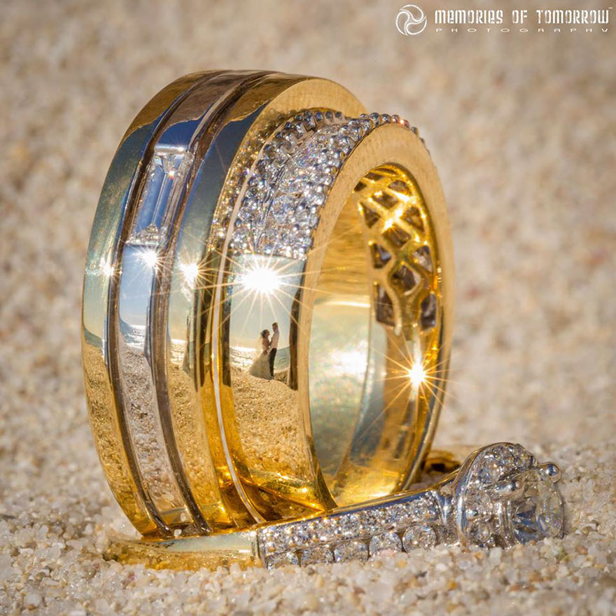 Self-Taught Photographer Finds Unique Way To Shoot Weddings… Reflected On Rings