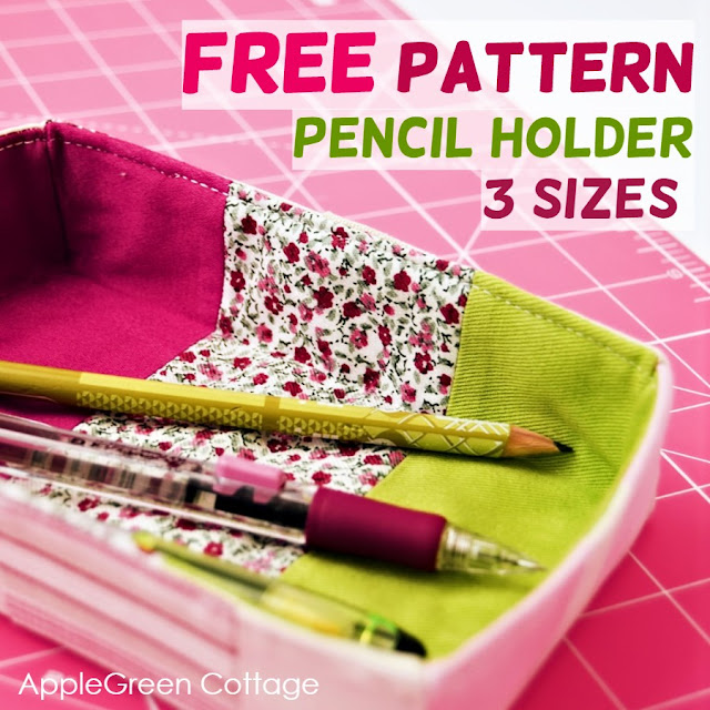 Sewing tutorial: Trinket tray and pencil holder