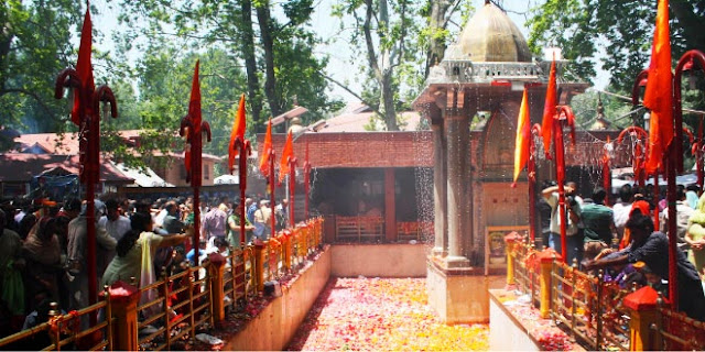 Kheer Bhavani Mandir in srinagar Kashmir, India