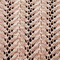 Vine lace stitch, absolutely easy stitch pattern. It is a great pattern for learning the basics of lace knitting.