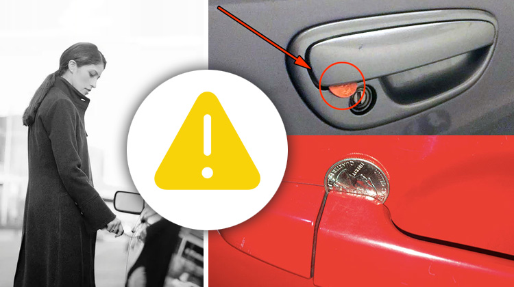 Be careful, If You See A Penny Placed In Your Car Door Handle.