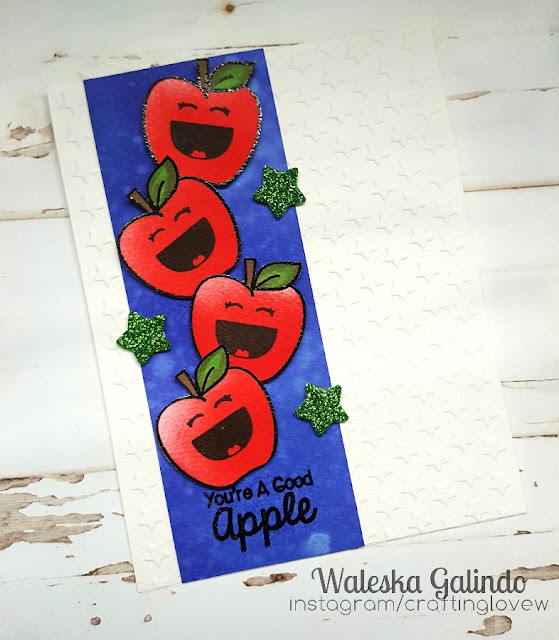Sunny Studio Stamps: School Time Good Apple Card by Waleska Galindo