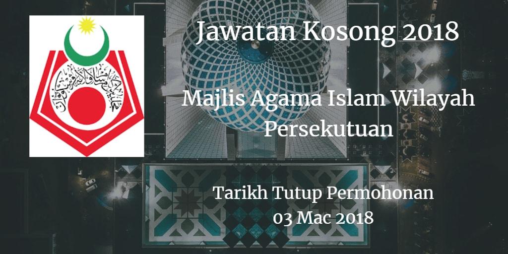 Jawatan Kosong MAIWP 03 Mac 2018