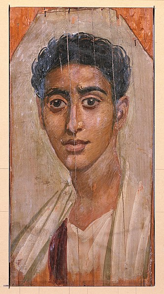 Mummy Portrait of a Man from Faiyum