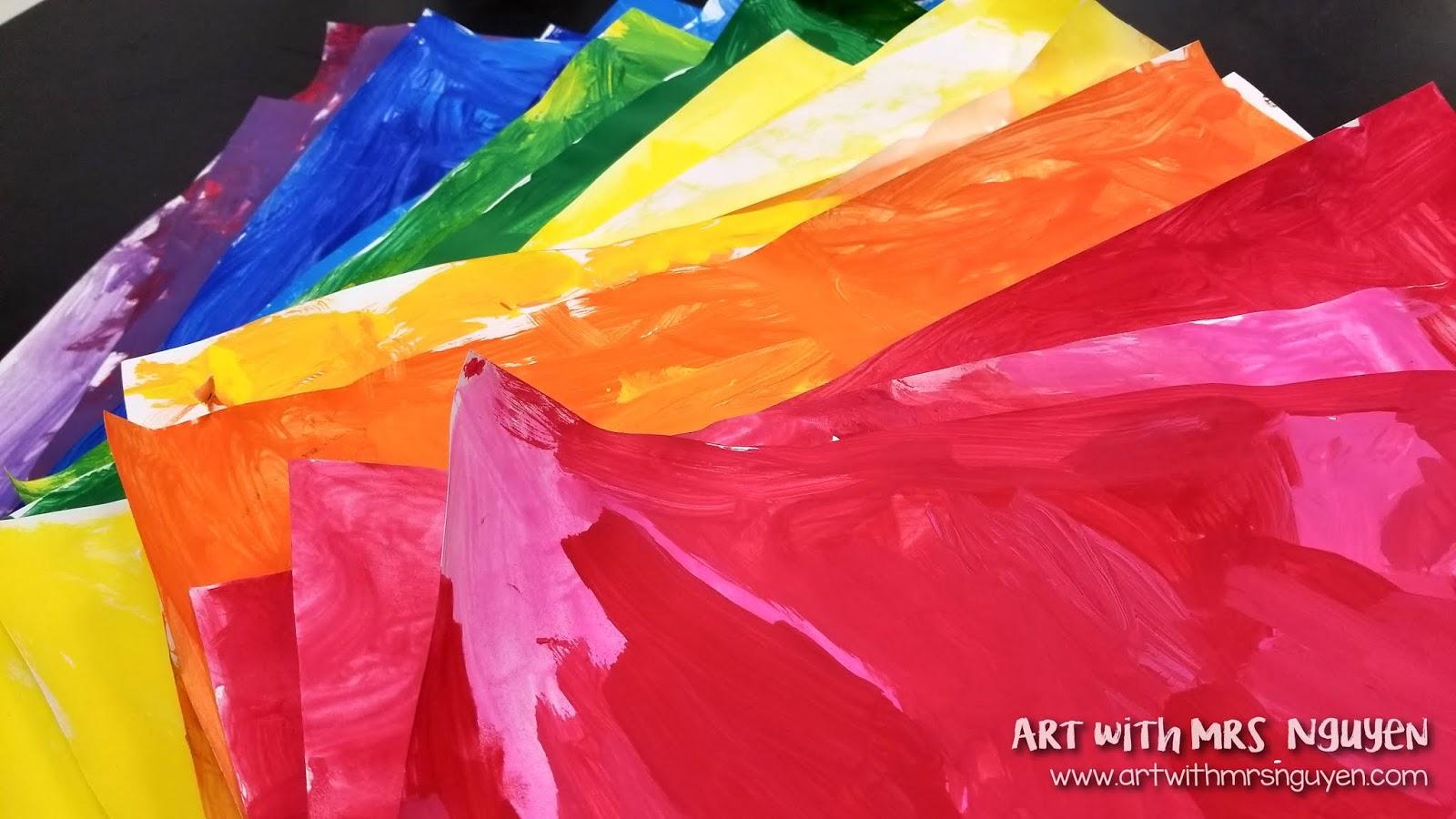 Rainbow Paper Mosaics K Art With Mrs Nguyen
