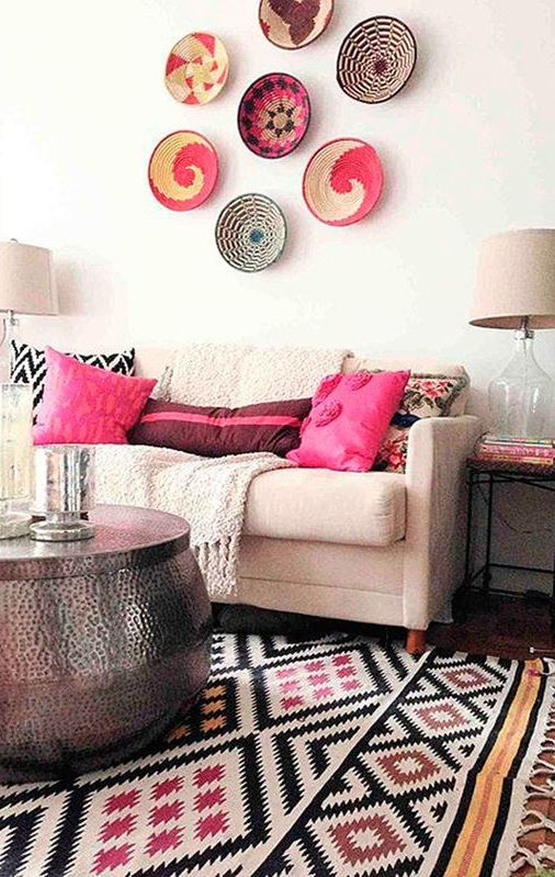 inspiring boho living room decoration