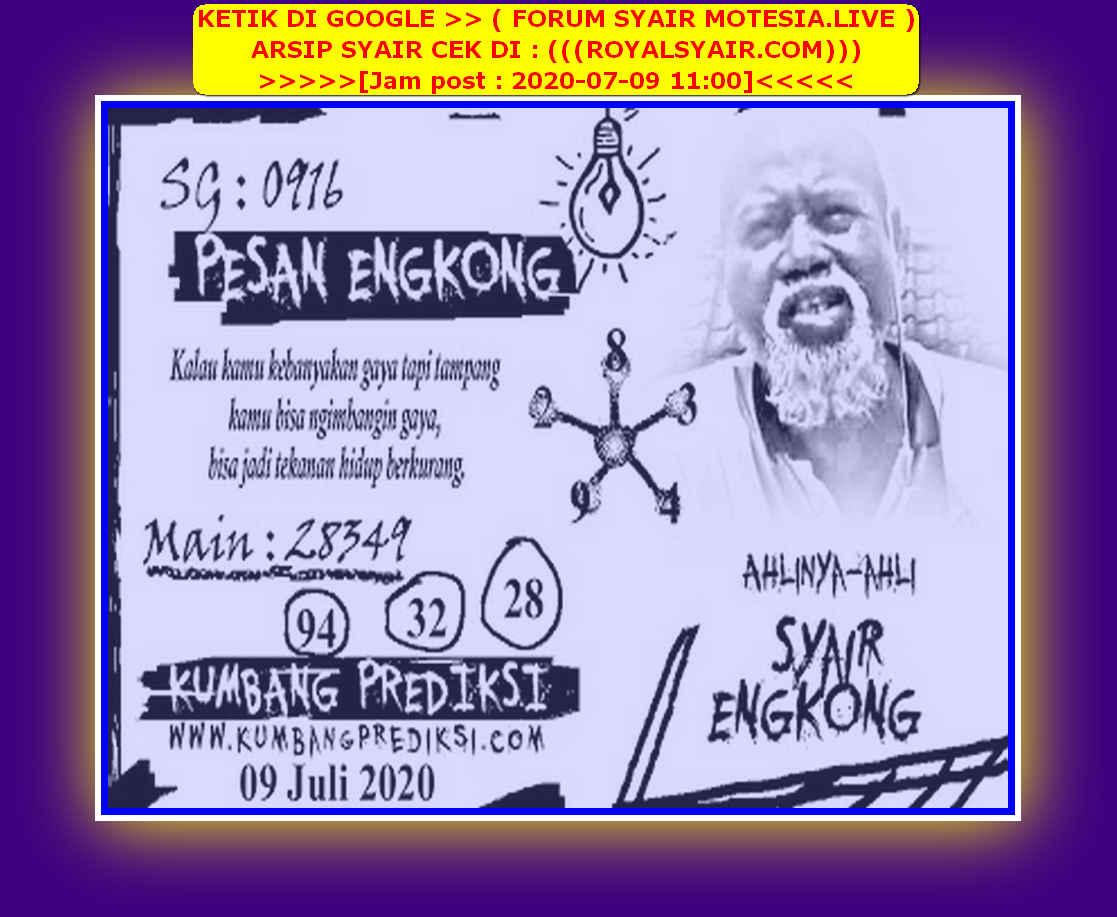 Kode syair Singapore Kamis 9 Juli 2020 102