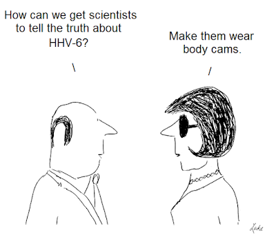 cartoon,cartoons, henri agut, hhv-6, human herpesvirus six, cfs, aids, asfv, beldekas, gallo