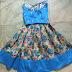 Blue Floral kids Lehenga