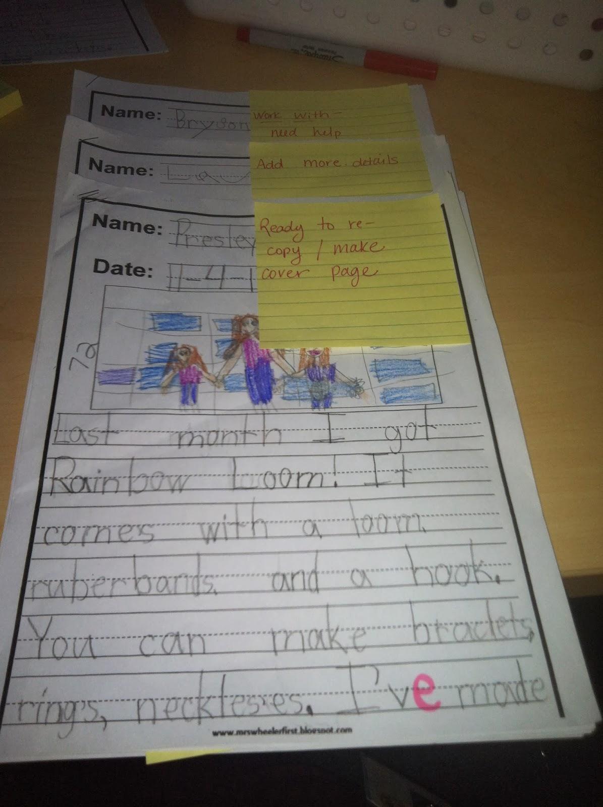 Mrs Wheeler S First Grade Tidbits Publishing Writing