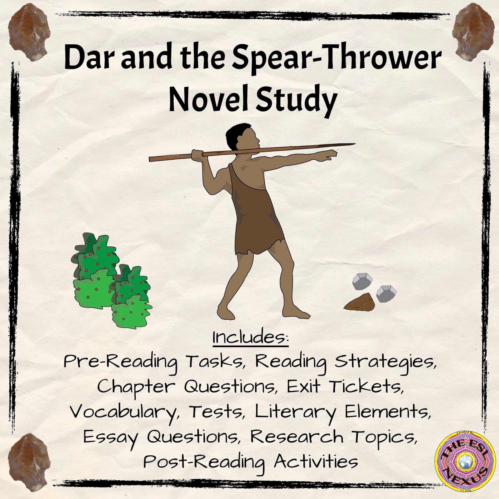 Check out my newest product, a novel study for Dar and the Spear-Thrower. Get it on sale during TpT's Back To School sale! | The ESL Connection