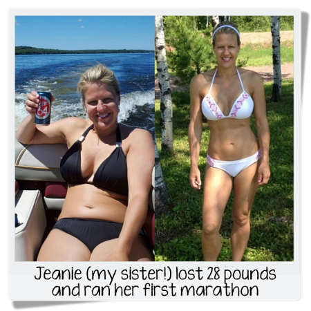 Jeanie's before and after photos