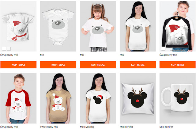 Świąteczne wzory na koszulki, kubki, poduszki…