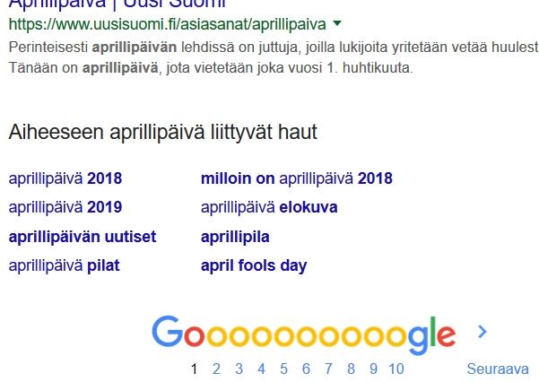 Milloin On Aprillipäivä