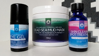 InstaNatural Eye Gel, Dead Sea Mud Mask and Spot Treatment