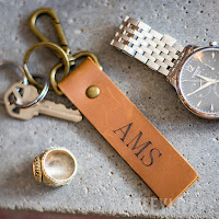 key fob for organizing keys with monogram