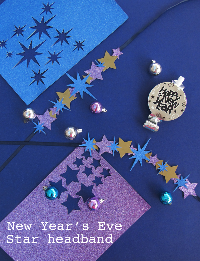 DIY, valetos diy, new year's eve, headband, star headband, star, dinner table, partyblog, party time, año nuevo, venda de año nuevo, cricut made, cricut