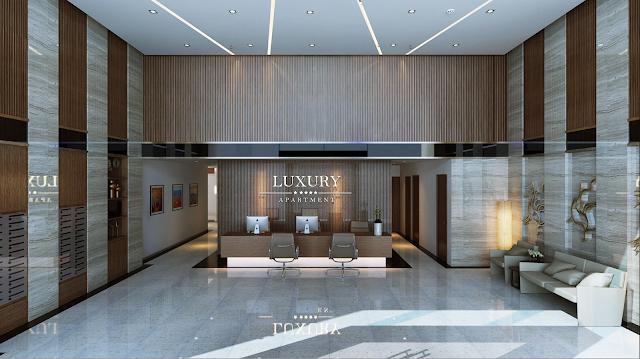 Sảnh đón tiếp cư dân của Luxury Apartment Đà Nẵng