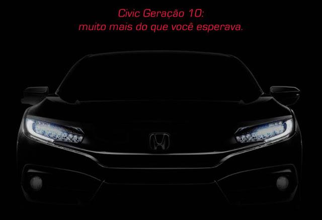 Novo Honda Civic 2017 - frente - Brasil