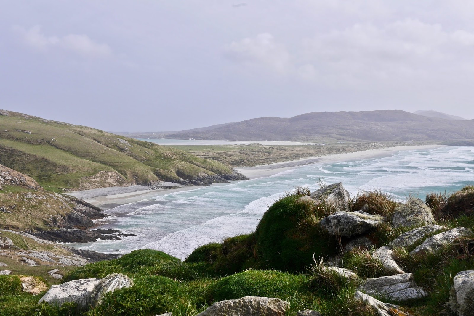 Isle of Barra Airport , Almost Chic and Cal McTravels during their Scottish Island Hopping in the outer Hebrides