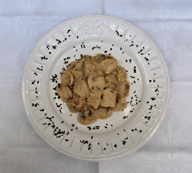 pollo, strogonoff, salsa, carne, receta, casera