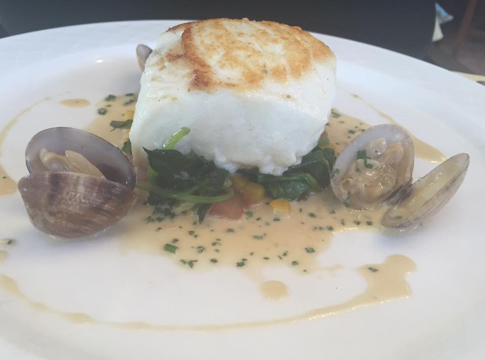 Crab and Lobster Restaurant, Thirsk - Halibut main course
