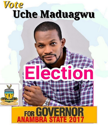 Lol...Actor Uche Madagwu Declares His Intention To Run For Governor Of Anambra State