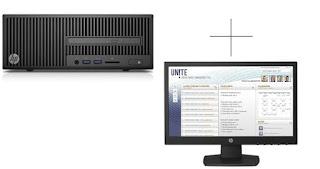 PC HP 280G2 SFF Core i3 DOS + 19.5''