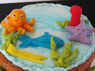 bolo polvo peixe estrela do mar